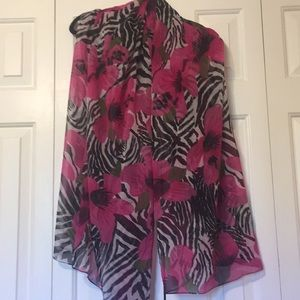 Accessories - Zebra and Floral Scarf